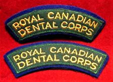 Canadian Army - Set of 2 Royal Canadian Dental Corps Shoulder Flashes