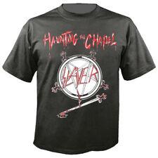 SLAYER official T-Shirt  HAUNTING THE CHAPEL  first EP U. S. Thrash Metal grau !