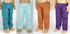 Four Pair, Pocket Pants. Fits Kidz 'n' Cats Dolls. Aqua, Teal, Plum, Pumpkin