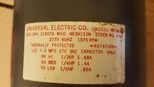 UNIVERSAL ELECTRIC SPLIT CAP MOTOR 448 HE3H110N 277V 1075RPM