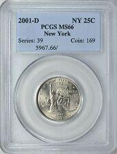 2001-D NEW YORK STATE QUARTER 25c PCGS MS66