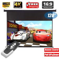 "Excelvan120""16 9 elektrischer HD Projektor Bildschirm Remote Control Home Office"
