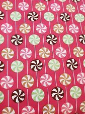 Robert Kaufman Ann Kelle Lolly Pop Candy Stripe Pink Sewing Fabric BTY 8yd avail