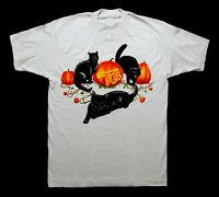 VTG-REPRINT Grateful Dead 1993 Jerry Garcia Band Halloween Cats T Shirt FF185