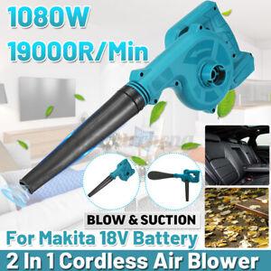 Cordless Electric Leaf Dust Air Blower Vacuum Tool For Makita 18V Li-Battery