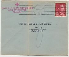 1943 Warsaw Poland Cover to International Red Cross in Krakow
