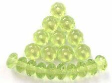 20 Peridot Verde Facetadas Cristal Checo Perlas de donas - 4x7mm (4-7 fpdon 5020)