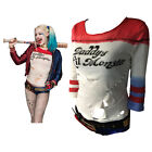 Suicide Squad Costume Cosplay Harley Quinn T-Shirts Daddy's Lil Monster T-Shirts