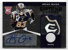 2012 Totally Certified Future #7 Brian Quick LOGO Patch Autograph RC #15/49