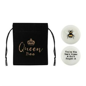Tiny Bee Lucky charm stone YOUR'E THE BEES KNEES 3 x 3 x 1cm & Gift pouch New