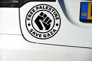 Free Palestine Save Gaza Car Stickers Wall Windows Vinyl Decals Charity Support