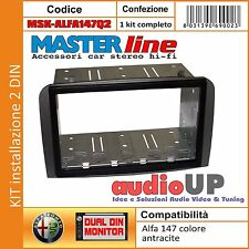 MASCHERINA AUTORADIO ALFA 147 Q2 ADATTATORE 2 DIN  DUE DIN KIT FULL INSTALLATION