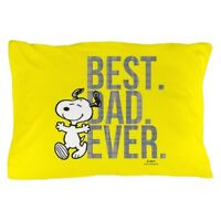 CafePress Snoopy Best Dad Ever Full Bleed Pillow Case (1924932134)