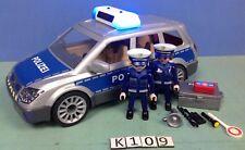 (K109) playmobil voiture de police avec gyrophare et sirène ref 6873