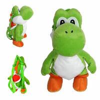 Yoshi Plush Backpack Nintendo Super Mario Bros Stuffed Bag Zipper Kid School 18