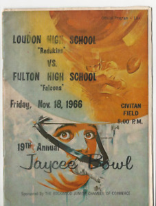 1966 LOUDON REDSKINS VS FULTON FACONS TN 32 PGS FOOTBALL PROGRAM HISTORY & PICS