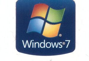Windows 7  Sticker Aufkleber Badge