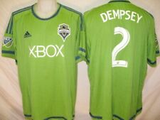 Clint Dempsey Seattle Sounders 2015 Lime Green Mens 2XL Adidas Replica Jersey