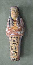 """Egyptian Ushabti, c.19th-20th Dynasty (1307-1070 B.C.) 6 1/4"""" Hieroglyphics COA"""