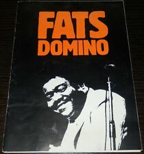 FATS DOMINO SIGNED: RARE 1986 EUROPEAN TOUR PROGRAMME AUTOGRAPHED