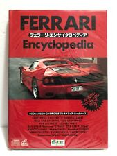 FERRARI ENCYCLOPEDIA +CD (1995 Gakken Multimedia) Japanese Edition Hardcover NEW