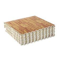 Symple Stuff Joel 72 Sq Ft Interlocking Puzzle Foam Floor Tile Mats - Wood Grain