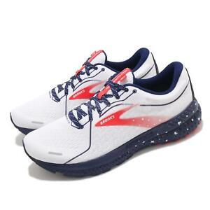 Brooks Adrenaline GTS 21 Run USA White Blue Red Men Running Shoes 1103491D-166