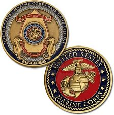 "U.S. Marine Corps / Base Camp Lejeune ""Semper Fi"" - USMC Bronze Challenge Coin"