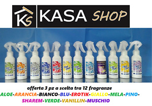 3 pz Deo Due 12 FRAGRANZE Deodue 100 ml Profumatore ambiente auto elimina odori