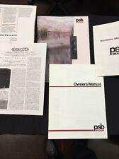 PSB Speaker Owners Manual Alpha 300 400 500 800 Stratus Mini Gold Brochure