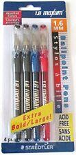 Staedtler 1.6 Maxum Ballpoint Pens Extra Large Extra Bold 1.6 mm Acid Free