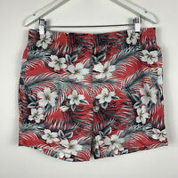 Stussy Mens Board Shorts Size 34 Swim Shorts Floral Elastic Waist With Pockets