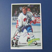 GUY LAFLEUR  Quebec Nordiques  1991 FLOWER POWER  postcard Signed autographed