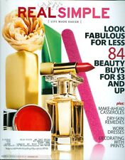 2012 Real Simple Magazine: Look Fabulous for Less/Beauty Buys/Casseroles/Dresses