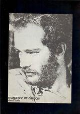 spartito Sheet music FRANCESCO DE GREGORI  viva l'Italia originale 1979