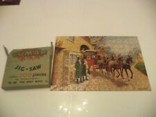 OLD VINTAGE BOXED LUMAR NO 86 JIGSAW PUZZLE 200 pieces THE GREY MARE COACHING IN