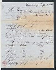 GBAB 42 GB QV 1880 letter to Norway Frederikshald Halden revenue stamp