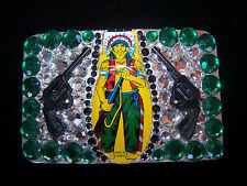 Cowgirl Western Rodeo~ONE OF A KIND~Indian Chief Rhinestone Belt Buckle