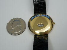 GENUINE CHAUMET FULL SOLID 18K YELLOW GOLD JUMPING HOUR 30MM 11A-374 WATCH
