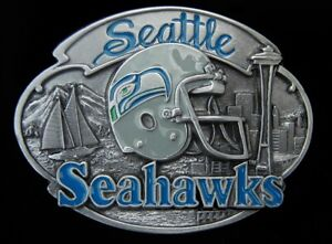 SEATTLE SEAHAWKS BELT BUCKLE VINTAGE 1988 LIMITED EDITION COLLECTIBLE #153