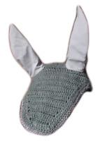 Horse Earnet Crochet Fly Veil Equestrian Fly Bonnet/veil/Fly mask (Gray) 5 Pcs