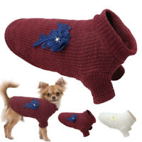 Dog Sweater Small Knitted Jumper Knitwear Chihuahua Cloth Warm Puppy POLO Shirt