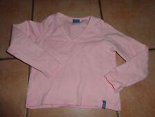 Mädchen Langarm - T-Shirt   ARIZONA    Gr. 128 rosa   Baumwolle-Mix V-Ausschnitt