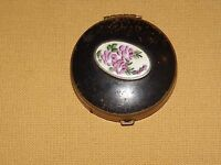 VINTAGE FLOWER METAL PILL BOX