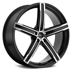Vision 469 BOOST Wheels 17x7 (38, 5x110, 73.1) Black Rims Set of 4