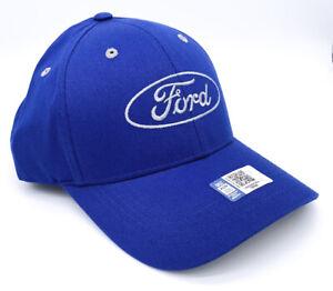 Hat / Cap - Blue w/ Gray Embroidered Ford Oval Emblem Logo - Licensed