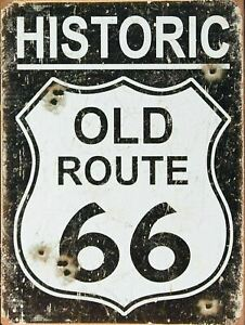 Retro American Vintage ROUTE 66 USA ROAD Man Cave Shed Pub Bar Garage Metal Sign