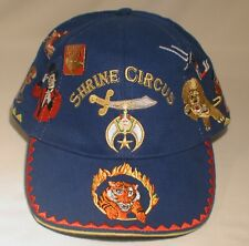 Shrine Circus Hat Blue Chestnut Lion Tiger Magician Clown Acrobat Horse & Pin