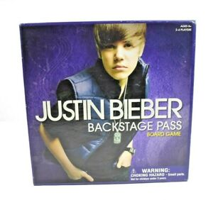 The Canadian Group - Justin Bieber Backstage Pass Board Game - 100% Complete