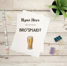 Will You Be My Bro'smaid Proposal Card, Funny Best Man Card, Groomsman, Usher